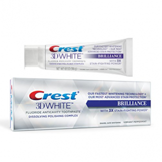 Crest 3D White Brilliance Vibrant Peppermint Whitening Toothpaste