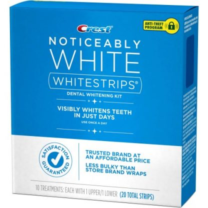 Crest Noticeably White Whitestrips Dental Whitening Kit