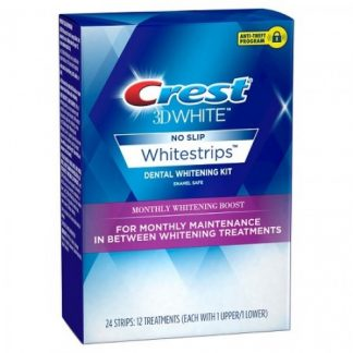 Crest 3D White Whitestrips No Slip Monthly Whitening Boost